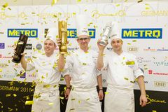 "Marvin Böhm gewinnt den Bocuse d'Or in Gold in Frankfurt / Foto: Jörg Eberl / ""Bocuse d´Or Germany"
